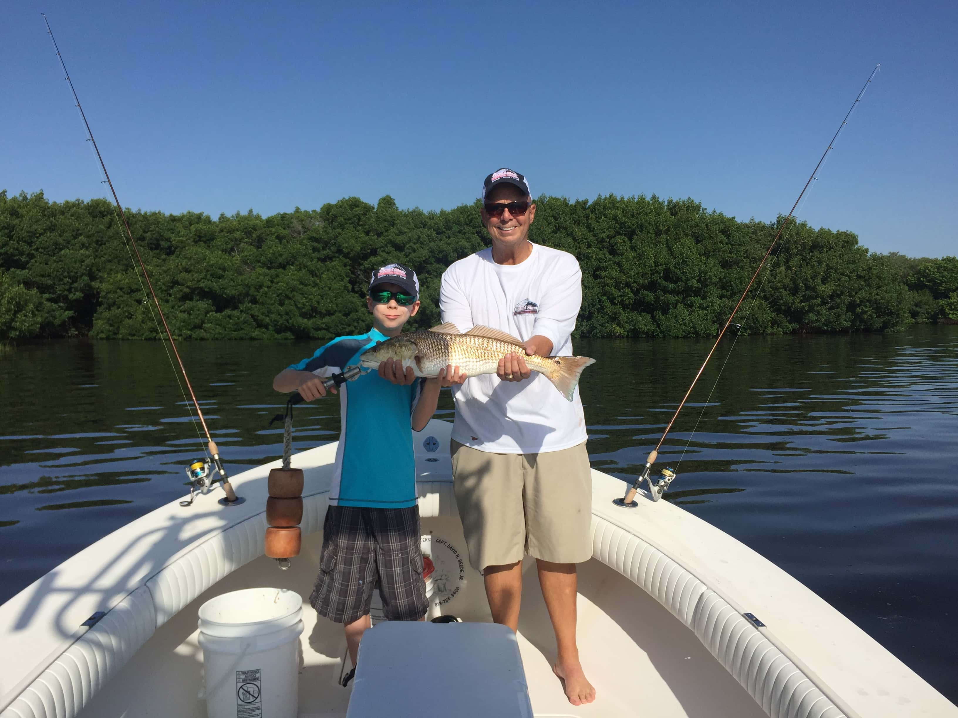 Father and grand son fishing tampa florida and clearwater for Fishing clearwater fl