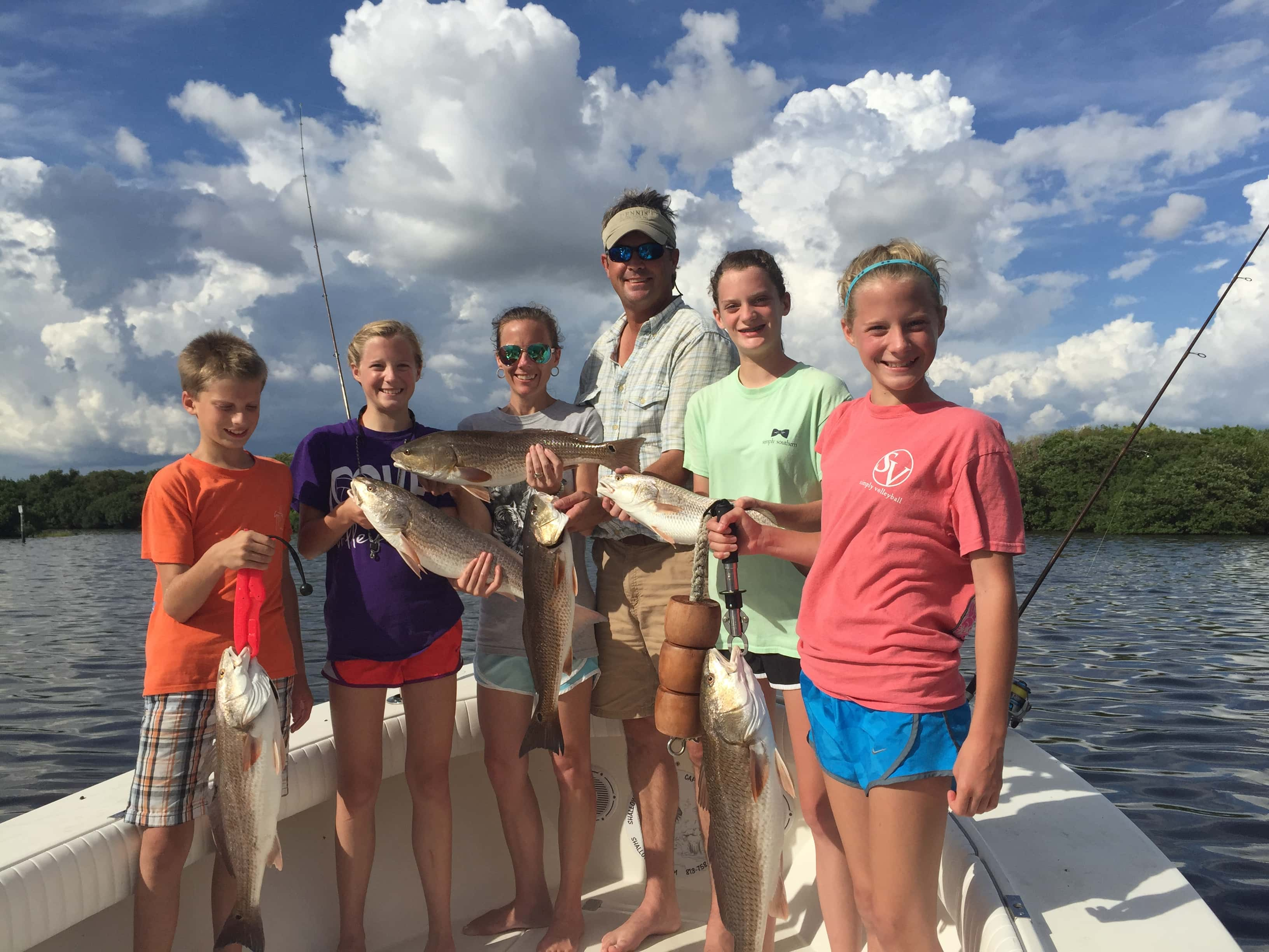 Family fishing in tampa florida 813 758 3406 shallow for Charter fishing tampa