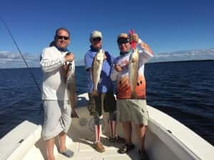 Limits of Redfish catching Trout and Snook too!