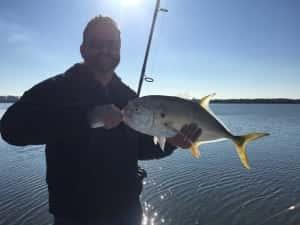 Canal Tuna in Tampa Florida fishing in January
