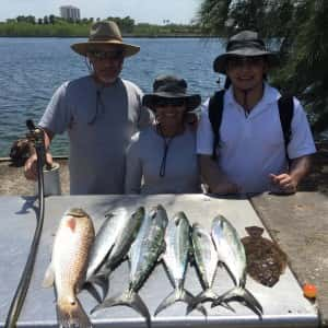 Mackerel Redfish and Flounder today with all sorts of other fish